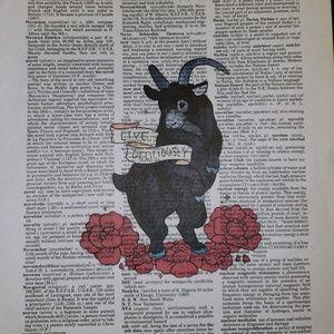 LIVE DELICIOUSLY Black Phillip Framed Print